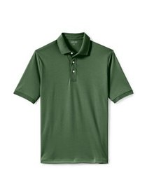 Lands' End Men's Short Sleeve Supima Banded Polo