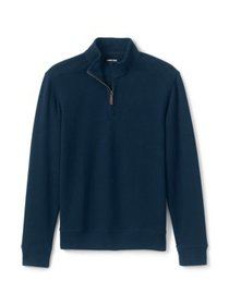 Lands' End Men's Big & Tall Bedford Rib Quarter Zi