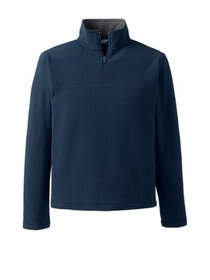 Lands' End Men's Big & Tall Fleece Quarter Zip