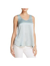 Theory Womens Everyday Sateen Hi-Low Tank Top