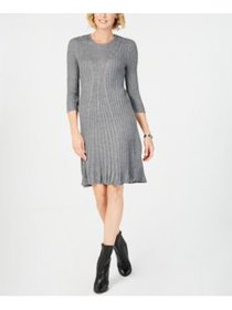 NY Collection Petite Cable-Knit Sweater Dres Alpha