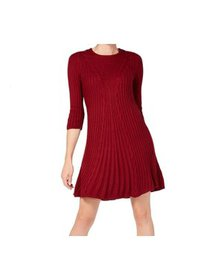Womens Small Petite Knit Sweater Dress PS