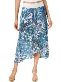 NY Collection Womens Petites Printed Faux Wrap Mid