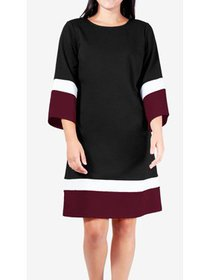 Womens Petite Colorblock Shift Dress PXS