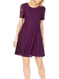 Womens Petite Lace Fit Sheath Dress XS
