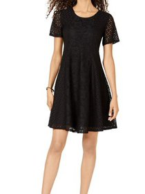 Womens Small Petite Lace A-Line Dress PS