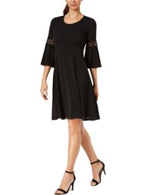 NY Collection Womens Petites Bell Sleeves A-Line P