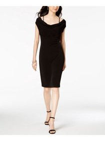 Womens Dress Petite Sheath Ruched 14P