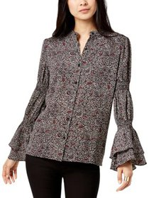 MICHAEL Michael Kors Womens Petites Tiered Sleeve