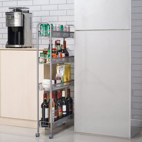 Zimtown 4-Tier Gap Kitchen Slim Slide Out Storage
