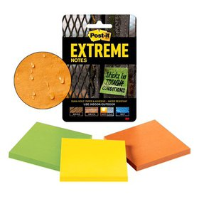 Post-it Extreme Notes, 3 in. x 3 in., 3 Pads/Pack,