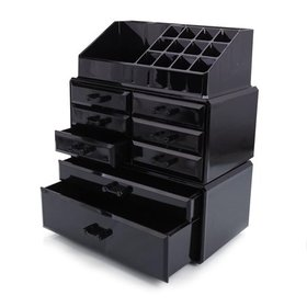 Ktaxon Large Makeup Organizer, Black