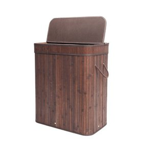 Zimtown Bamboo Laundry Hamper Basket Wicker Clothe