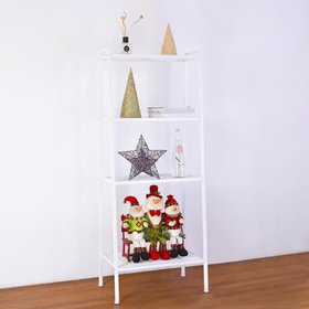 Zimtown 4 Tier Metal Ladder Shelf Bookcase Leaning