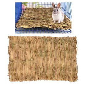Petacc Grass Hamster Bed Woven Small Animal Mat Sa