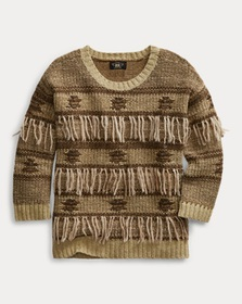 Ralph Lauren Fringe Silk-Blend Sweater