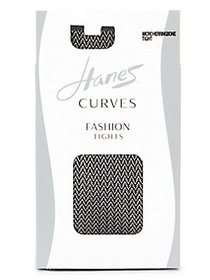 Hanes Herringbone Tights BLACK