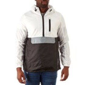 Mens Hooded Color Block Windbreaker Jacket with Po