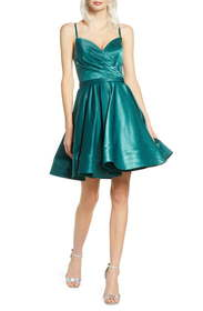 Ieena for Mac Duggal Satin Fit & Flare Party Dress