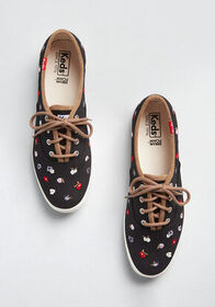 Keds A Floral Affair Embroidered Sneaker Black
