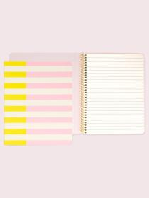 two-tone stripe concealed spiral notebook