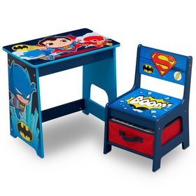 DC Super Friends Kids Wood Desk and Chair Set by D