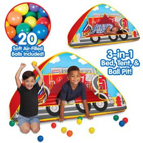 Little Tikes Fire Truck 3-in-1 Bed, Tent, & Ball P