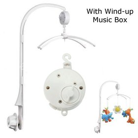 Baby Crib Bell Musical Mobile Plays Tunes Wind-up