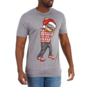 HARD 10 Mens Santa Hat & Sunglasses Bear Graphic T