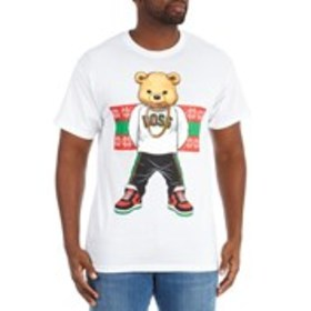 HARD 10 Mens Holiday Boss Bear Graphic T-Shirt