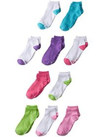Hanes Girls Socks, 10 pack Low Cut (Little Girls &