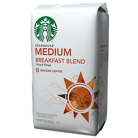Starbucks Medium Roast, Breakfast Blend, Ground