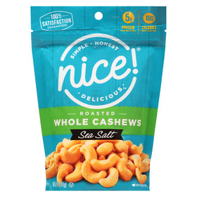Nice! Whole Cashews Roasted, Sea Salt