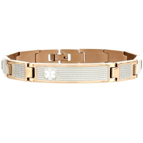 American Medical ID Rose Gold Lynx Shine