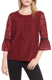 Gibson x Glam Squad Erin Allover Lace Bell Sleeve