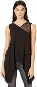 BCBGMAXAZRIA V-Neck Sleeveless Woven Top