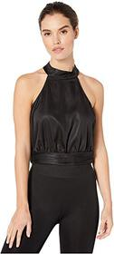 BCBGeneration Open Back Halter Woven Top TMK125145