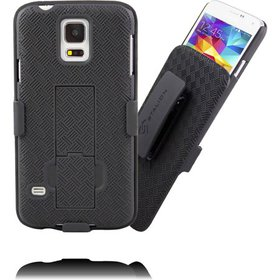 Galaxy S5 Holster: Stalion® Secure Shell Case & Be