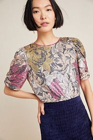Anthropologie Marie Sequined Blouse
