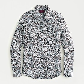 J. Crew Perfect shirt in Liberty® sea grass floral