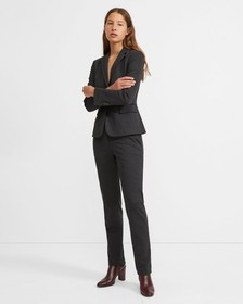 Houndstooth Knit Tailored Trouser