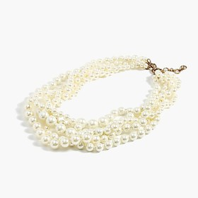 J. Crew Pearl twisted hammock necklace