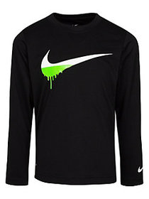 Nike Little Boy's Long-Sleeve Graphic Tee BLACK