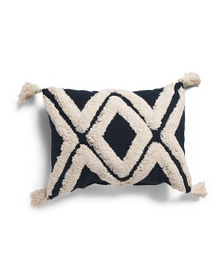 BRENTWOOD 14x19 Tufted Tassel Pillow
