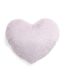NICOLE MILLER 18in Solid Fluffy Heart Pillow