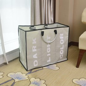 Zimtown Laundry Hamper Aluminum Alloy Three Lattic