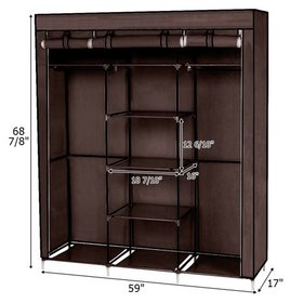 Zimtown Closet Wardrobe Portable Clothes Storage O