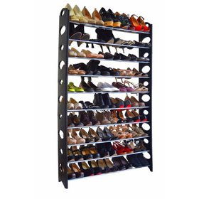 Ktaxon 50 Pair 10 Tier Shoe Tower Rack Organizer S