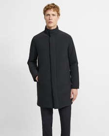 Paper Nylon Stand Collar Down Coat
