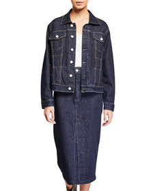 TRAVE Adrienne Belted Denim Jacket